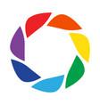 template element for logo photo studio vector image