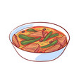 thai soup with meat isolated icon vector image vector image