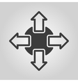 The navigation icon Arrows symbol Flat vector image