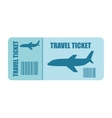 ticket fly isolated icon design vector image vector image