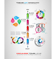 Timeline with Infographics design elements for vector image