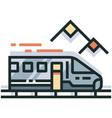 train line color icon vector image