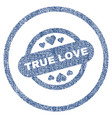 true love stamp seal rounded fabric textured icon vector image vector image