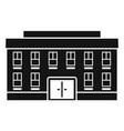 village courthouse icon simple style vector image