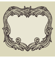 vintage frame with copy space vector image vector image