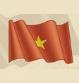 vintage vietnam flag vector image