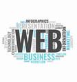 web informative word cloud concept typography vector image vector image