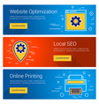 website optimization online printing local seo vector image