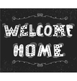 Welcome home text with cute design elements vector image vector image