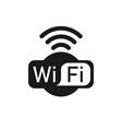 wifi logo icon flat design vector image