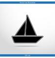 yacht web flat icon vector image vector image