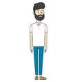 young man with beard cartoon