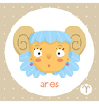Aries zodiac sign girl with horns vector image