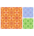 Seamless floral pattern in different color schemes vector image
