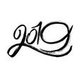 2019 grunge black lettering vector image vector image