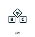 abc icon line style icon design ui vector image