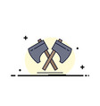 axe hatchet tool cutter viking flat color icon vector image