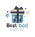 best dad logo design happy fathers day creative vector image