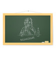 blackboard with sad businessman with a bottle on vector image vector image