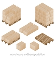 Boxes and pallets vector image