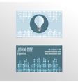 Business card design with abstract background and vector image