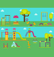 children playground kindergarten amusement vector image