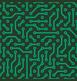 circuit board green seamless pattern background vector image