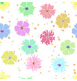 colorful flower seamless background with hand vector image vector image