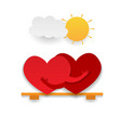 couple in love concept two cute hearts hugging vector image