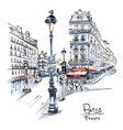 cozy paris street france vector image vector image
