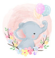 cute elephant vector image vector image