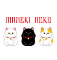 cute maneki neko set vector image vector image