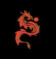 dragon tribal with ball image vector image