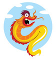 dragon with a sky in background vector image vector image
