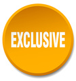 exclusive orange round flat isolated push button vector image vector image