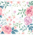 floral seamless pattern garden flower rose and vector image vector image