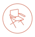 Folding chair line icon vector image vector image