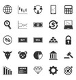 forex icons on white background vector image
