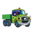 funny small old truck or car with eyes vector image vector image