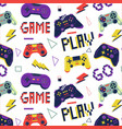 gamer pattern seamless print with game controller vector image vector image