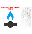 gas flame icon with bonus energy clipart vector image