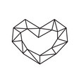 geometric symbol heart shape frame with vector image vector image
