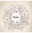 Graphic vanilla wreath vector image