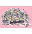greeting card birthday colored vector image vector image