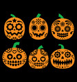 halloween pumpkin mexican sugar skull vector image