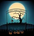 happy halloween party template vector image vector image