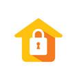 home lock secure icon logo vector image vector image