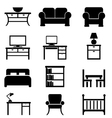 House Furniture icons vector image vector image