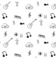 internet radio pattern black and white vector image vector image