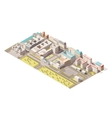 Isometric Berlin map vector image vector image